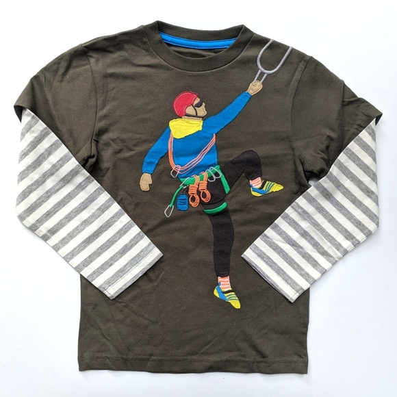 T-Shirts & Tops Mini Boden boy's baby cotton applique top t-shirt  new shirt tee applique logo